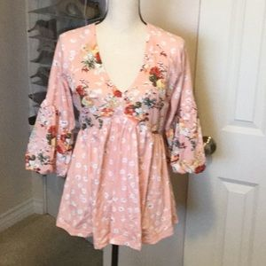 Like New Floral Print Blouse